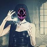 Poptrend Halloween Mask LED Light up Mask for