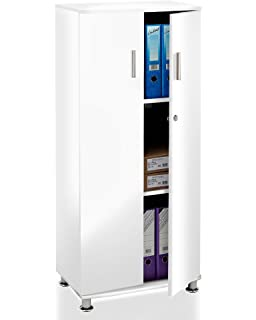 White Office Cupboard Bookcase Filing Storage Stationary Cabinet