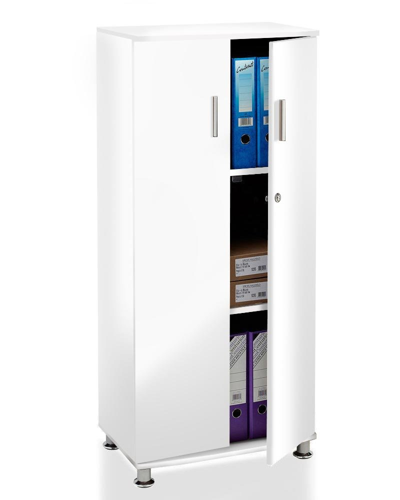 Tall Cupboard with 3 shelves Storage Filing Cabinet office home furniture GB Furniture