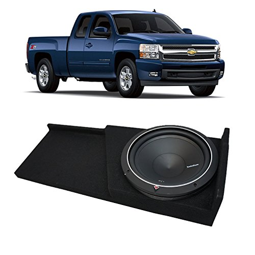 Fits 2007-2013 Chevy Silverado Ext Cab Truck Rockford Punch P1S212 Single 12 Sub Box Enclosure - Final 2 Ohm