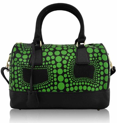 ANNA GRACE - Bolso mochila  de piel sintética para mujer Design 1 - Green