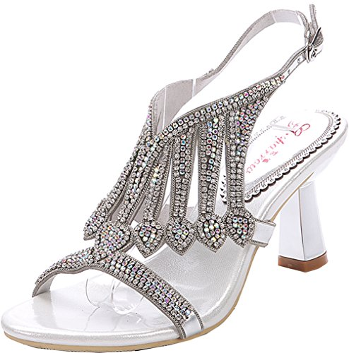 Models heeled Diamond Rhinestone Temperament Buckle Shiny Sexy Salabobo L005 Summer Hollow Gold chunky High Sandals Exg1wqFp