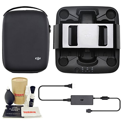 DJI Spark Portable Charging Station Bundle with Charging Station Bag Case and Surmik Drone Care Kit