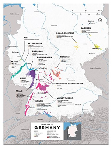 Wine Folly Germany Wine Map Poster Print