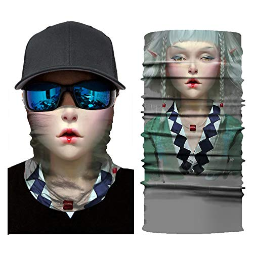 YunZyun Half Face Mask Cycling Motorcycle Head Scarf Neck Warmer Face Mask Ski Headband (Multicolor)