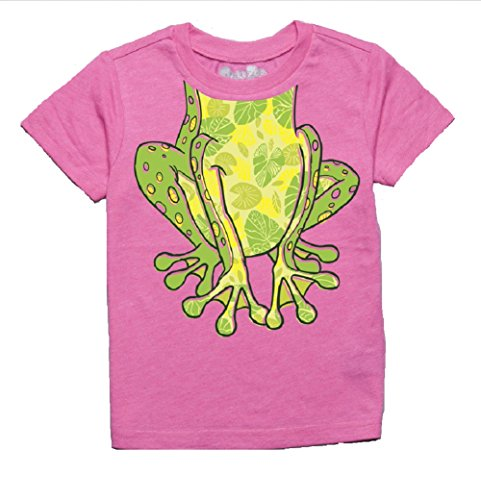 Peek-A-Zoo Toddler Become an Animal Short Sleeve T Shirt - Frog Hot Pink Heather (5T) -