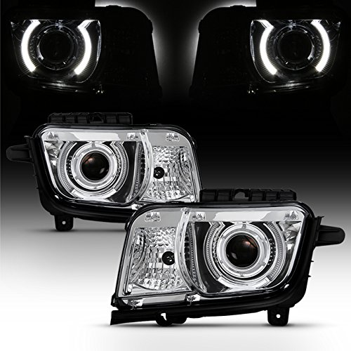 For Chrome 2010 2011 2012 2013 Chevy Camaro Driver & Passenger Both Side Projector Headlights Headlamps