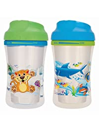 NUK Gerber Graduates Advance 2 Piece with Seal Zone Insulated Cup-Like Rim Sippy Cup, Boy, 9 Ounce (Designs May Vary) BOBEBE Online Baby Store From New York to Miami and Los Angeles
