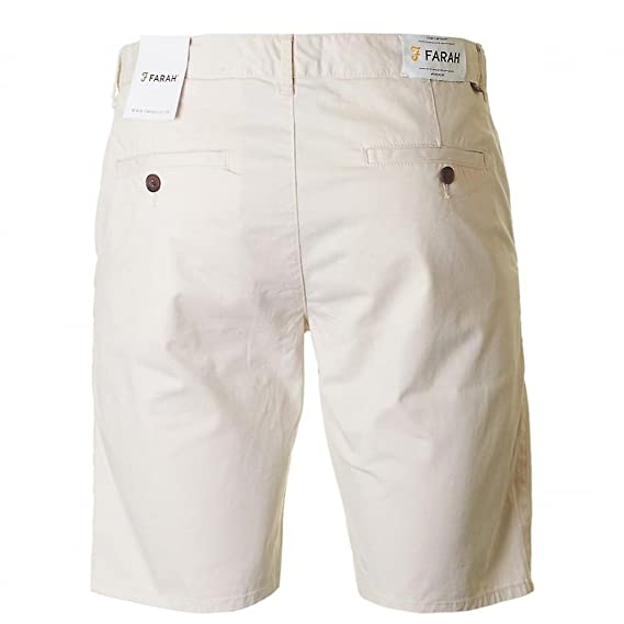 2135c604f14a Farah Hawk Twill Chino Shorts Pebble: Amazon.co.uk: Clothing
