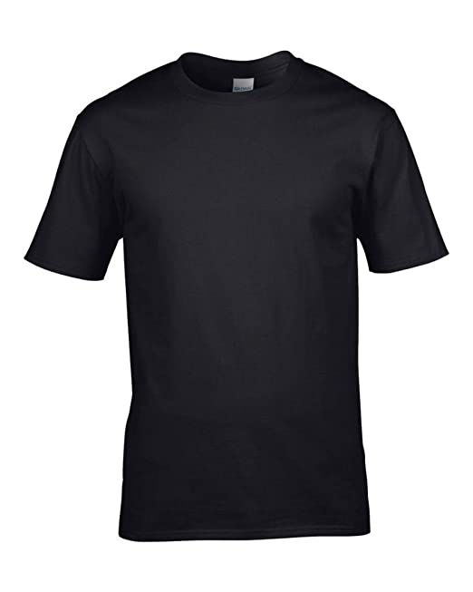 Black 5 Pack Mens Blank Gildan Plain Cotton Tshirt T Shirt Tee Fitted All Sizes