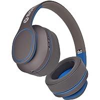 Moki Navigator Bluetooth Noise Cancellation Over-Ear Adjustable Headset w/Mic BL