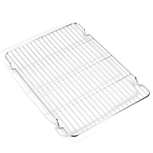 Baking sheets and Rack Set, Zacfton Cookie pan with Nonstick Cooling Rack & Cookie sheets Rectangle Size 12 x 10 x 1 inch,Stainless Steel & Non Toxic & Healthy,Superior Mirror Finish & Easy Clean by Zacfton (Image #4)
