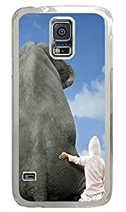 Samsung Galaxy S5 amazing covers Funny elephant PC Transparent Custom Samsung Galaxy S5 Case Cover