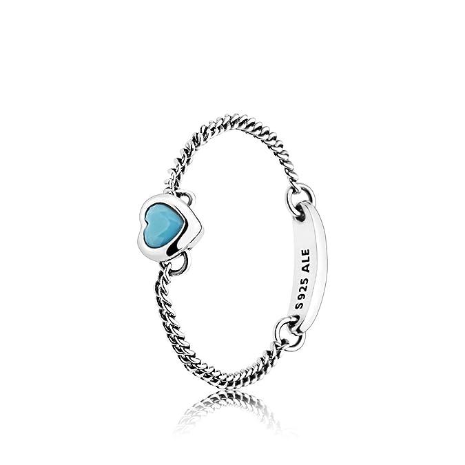 2677ef7f5 Pandora Women Silver Solitaire Promise Ring - 197191NYA-60: Amazon.co.uk:  Jewellery