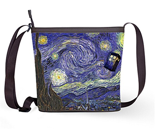 Popular Lady Women Shouder Bag Cross Body Bag Soulder Bag with Doctor Who Tardis Print.