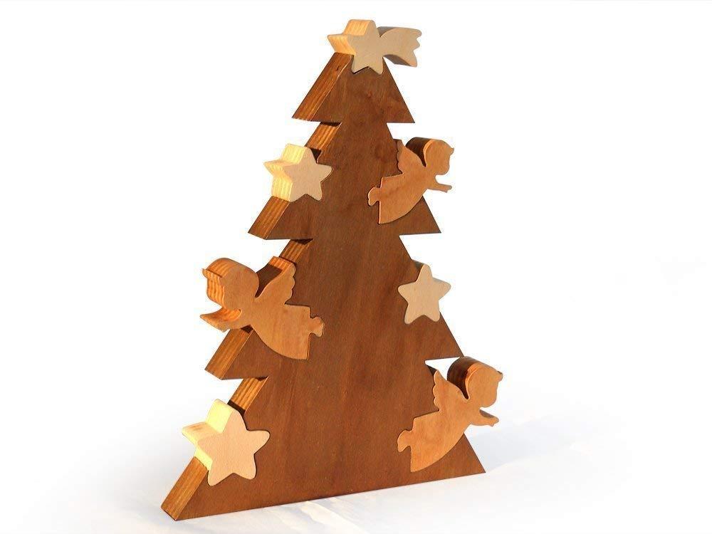 Albero Natale Legno.Albero Di Natale In Legno Amazon It Handmade