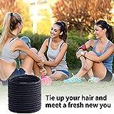 Black Elastic Hair Bands 120 pcs Hair Ties for