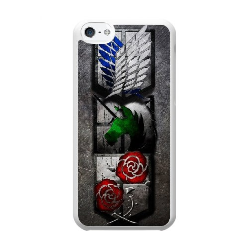 Coque,Coque iphone 5C Case Coque, Taza Ataque A Los Titanes Logo Cover For Coque iphone 5C Cell Phone Case Cover blanc