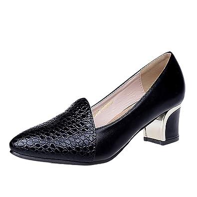 OHQ Klassische Damen Pumps Strass Glitzer Party Schuhe