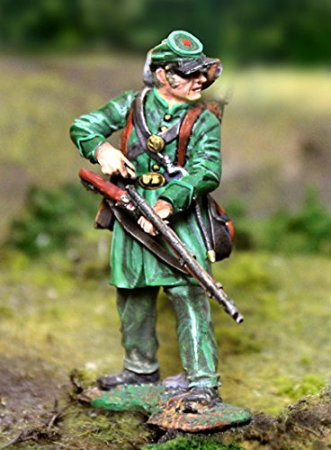 Civil War Toy Soldiers Union Berdan's Sharpshooters Infantry, Standing Re-loading Figure Collectors Showcase Toy Soldiers Painted Metal Figure 54mm-56mm CS00791 Britains Type