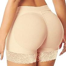 Women Seamless Butt Lifter Shaper Padded Panties Enhancer Underwear (US M / Tag L, Beige)