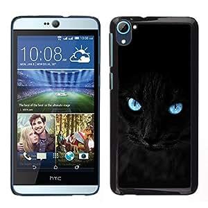 [Neutron-Star] Snap-on Series Teléfono Carcasa Funda Case Caso para HTC Desire D826 [Negro gato siamés pantera observa mascotas felina]