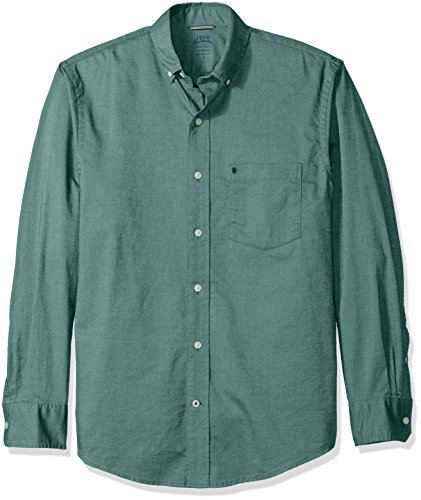 Bugs Long Sleeve Shirt (IZOD Men's Oxford Solid Long Sleeve Shirt, June Bug, Large)