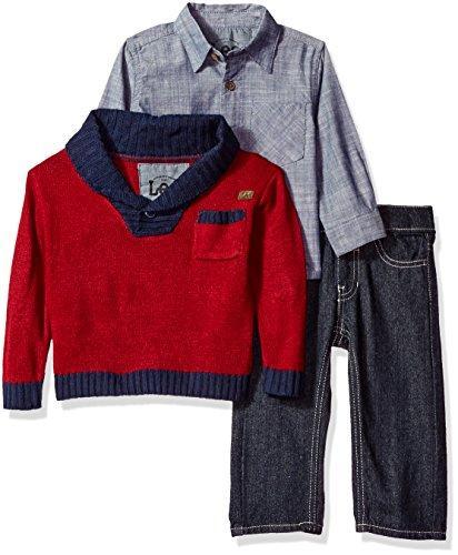 LEE Boys' Toddler Pants, Tee, Jacket Set, Roe Wash, 18 Months