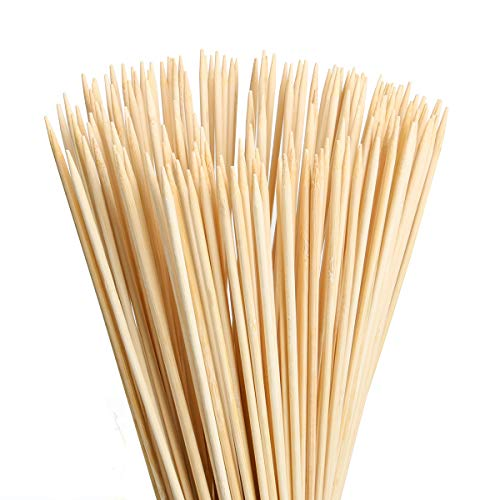 FLYPARTY Bamboo Marshmallow Roasting Sticks with 30 Inch 5mm Thick Extra Long Heavy Duty Wooden Skewers, Roaster Barbecue S'mores Skewers & Hot Dog Forks for Camping ,Party,Kebab Sausage (40 Pcs) -