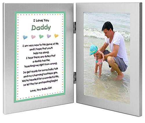 Gift for New Dad - Daddy Gift from Daughter with Sweet Poem - Add Photo (Best Christmas Gifts For New Dads)