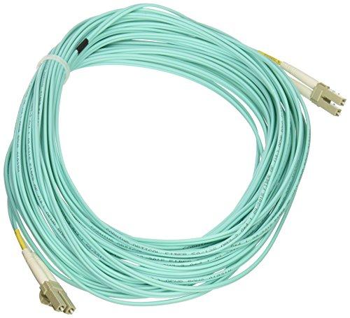 Monoprice 10Gb Fiber Optic Cable, LC/LC, Multi Mode, Duplex - 15 Meter (50/125 Type) - Aqua