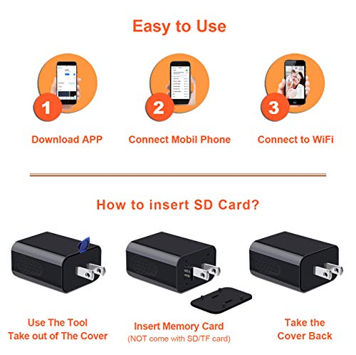 [Upgraded 2019] Spy Hidden Camera with Remote Viewing, USB Charger WiFi Nanny Camera 1080P HD H.264 with Motion Detection for Home Office Security Surveillance, No Audio by CIXI (Image #3)