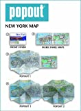 New York City PopOut Map - pop-up city street map of Manhattan New York - folded pocket size travel map with subway