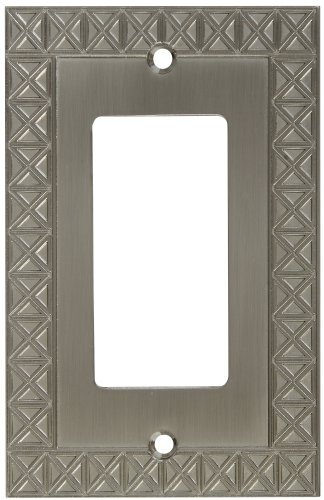 National Hardware S803-353 V8048 Pinnacle Single GFCI plates in Nickel