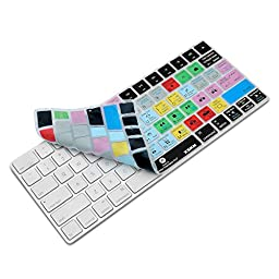 XSKN Apple Magic Keyboard Cover Functional Premiere Pro CC Shortcut Silicone Skin Protective Film for Magic Keyboard MLA22B/A, US Layout