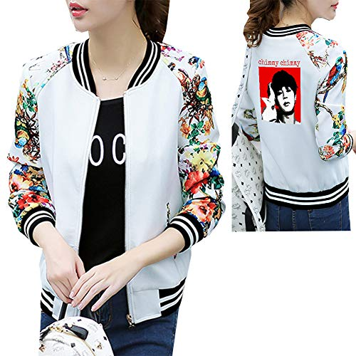 Leisure Baseball Moda Donna Top Selvaggio Coat Sport Manica Cardigan Patchwork Uniforme Semplice Jacke Lunga New Unisex White05 Bts Stampa PkwXN08ZnO