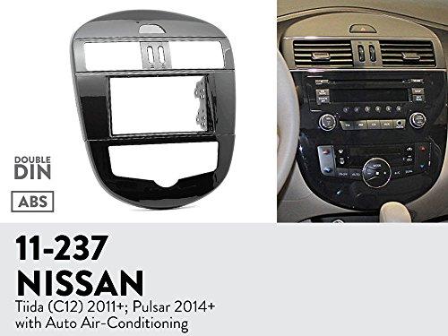 UGAR 11-237 Trim Fascia Car Radio Installation Mounting Kit for NISSAN Tiida (C12) 2011+; Pulsar 2014+