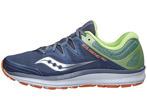 Saucony Women's Guide Iso Running Shoe, Grey/Mint, 9 Medium US