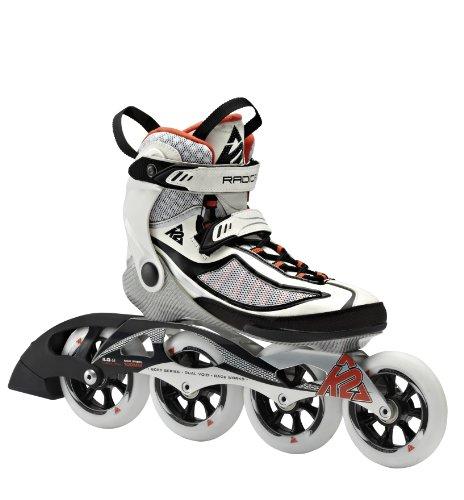 K2 Damen Inline Skate RADICAL 100 W, Weiß/Schwarz/Orange, 9, 3040103.1.1.090