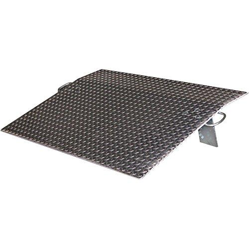 Vestil Economizer Dockplate - Aluminum, 4,300-lb. Capacity, 42in.L x 48in.W, Model# EH-4842