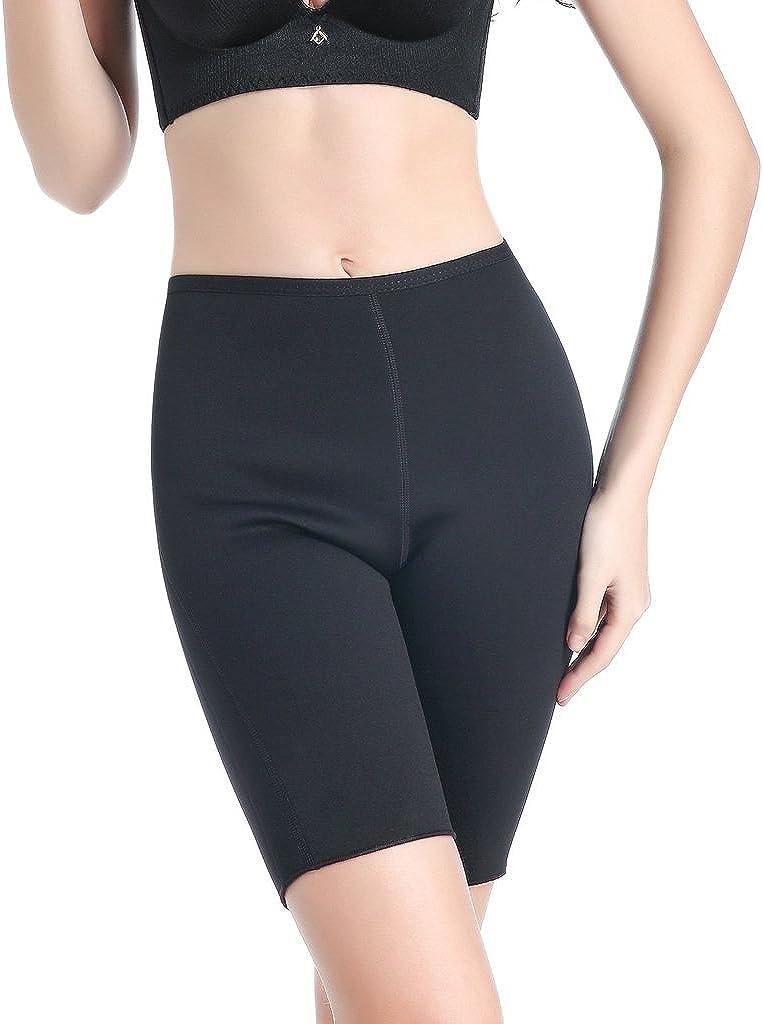 Ausom Womens Sweat Body Shaper Shorts Hot Thermo Slimming Sauna Pants Weight Loss Black Shapewear
