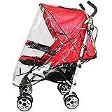 NEMOCARE Umbrella Stroller Clear Waterproof Rain Cover Wind Shield Fit Most Umbrella Strollers Pushchairs