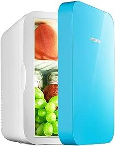 6L Mini Car Small Refrigerator DC12V Portable Cooler and Warmer Mini Fridge Freezer for Driving, Travel, Fishing, Outdoor