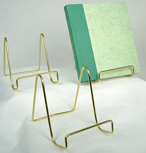 Wire Display Stand Plate Holders Brass Inch - Set 3
