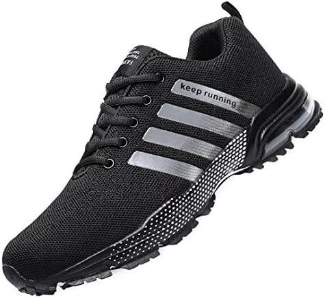 A Mens Running Shoes Fashion Breathable Sneakers Lightweight Tennis Outdoor Sport Casual Walking Athletic for Men