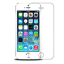 Tempered Glass High Definition (HD) / 9H Hardness / Explosion Proof Front Screen Protector Scratch Proof / Anti-Fingerprint Screen for iPhone SE/5s/5c/5