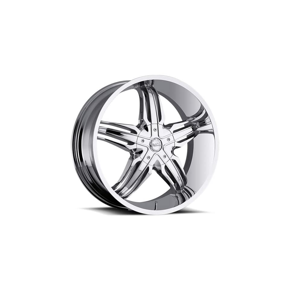 Milanni Phoenix 24 Chrome Wheel / Rim 6x5.5 with a 20mm Offset and a 110 Hub Bore. Partnumber 458 24983C20