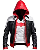 Cup Of Fashion Batman Arkham Knight Leather Jacket + Vest 2 in 1 (Medium, White)