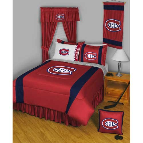 Sidelines Comforter Twin Collection - Montreal Canadiens NHL
