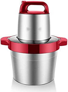 TJLbb 6L Large Capacity Meat Grinder - Commercial Household Electric Meat Stirrermeat Grinder Stainless Steel